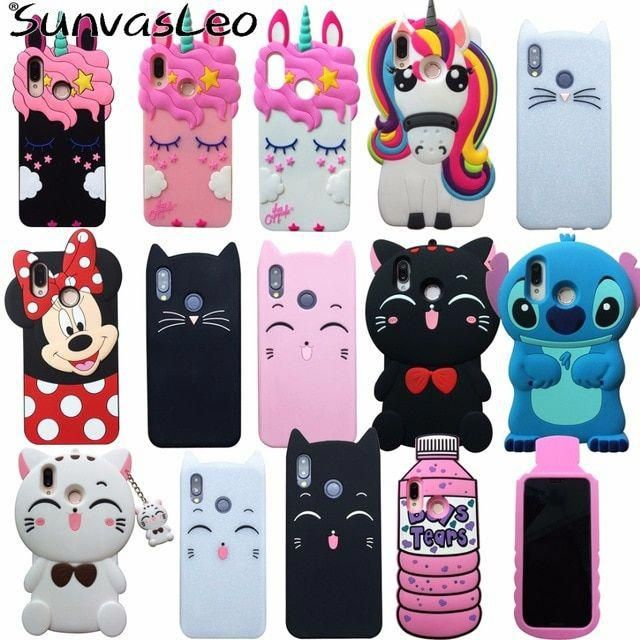 For Huawei P20 Lite Case 3D Soft Silicone Cartoon Smart Phone ...