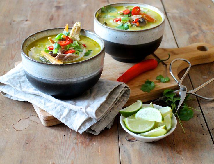 Thaisuppe med kylling og kokos