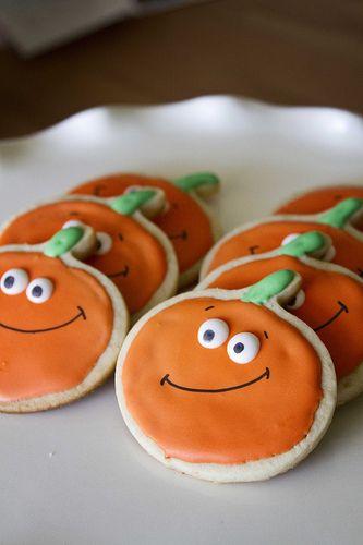 23 best FOOD - Pumpkin Cookies images on Pinterest Halloween - halloween pumpkin cookies decorating
