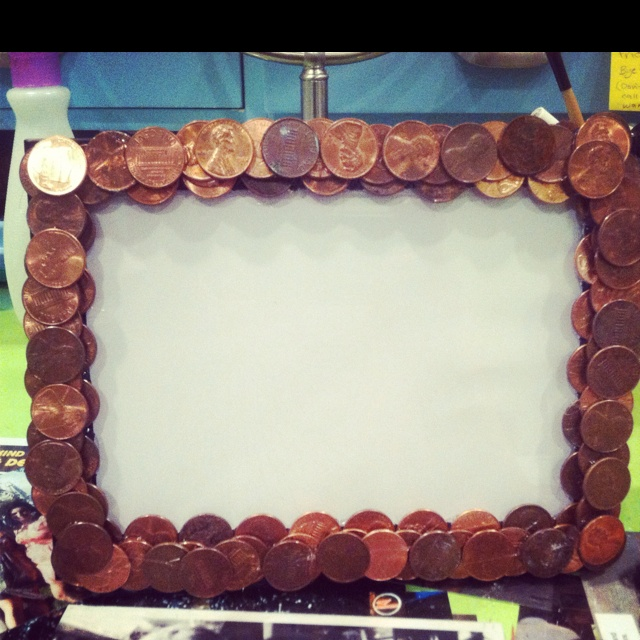 Homemade Penny Picture Frame Diy Pinterest