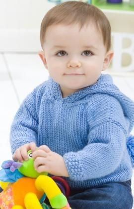 Free Easy Baby Hoodie Knitting Pattern
