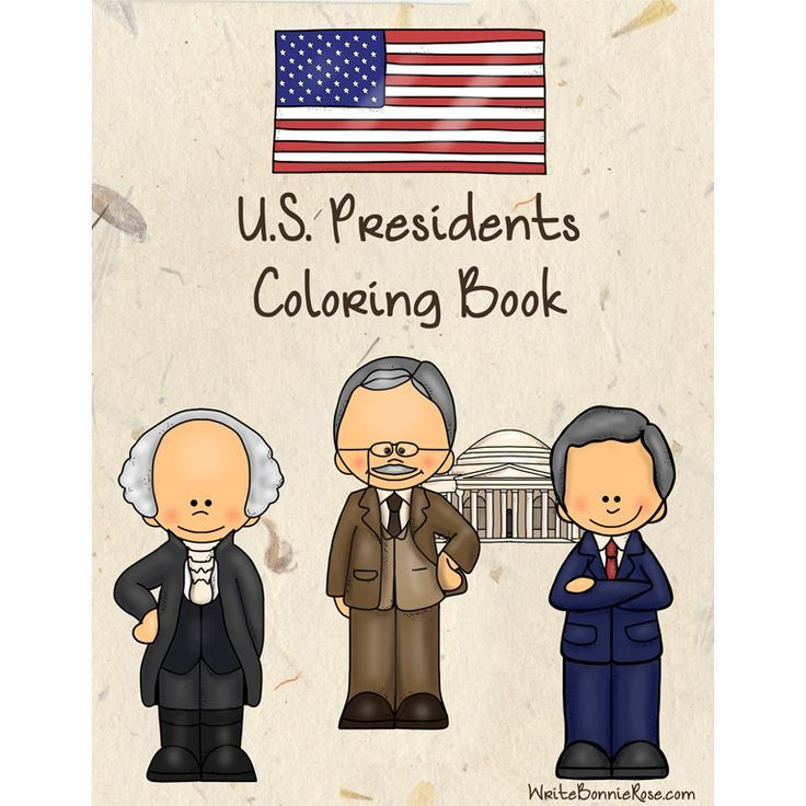 U.S. Presidents Coloring Book. Forty-four coloring pages with large print copywork to trace, perfect for young writers. Meet the first 44 U.S. Presidents in order of when they served in office! This is a fun way to combine history and handwriting practice.