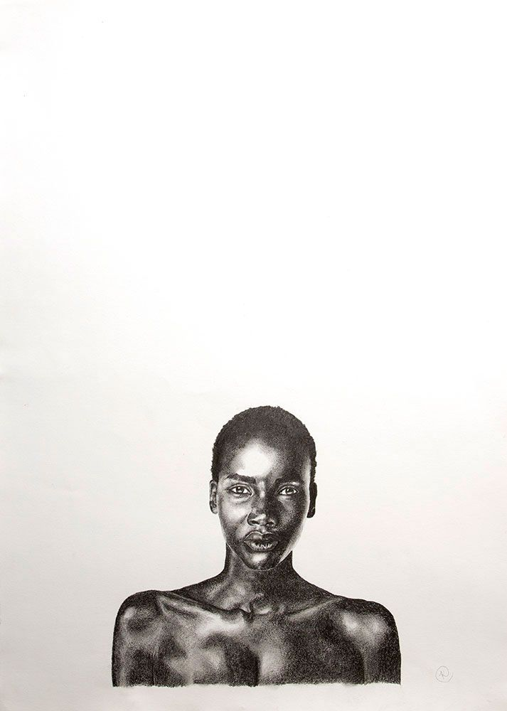 Beauty Differs #I by Kendall-Leigh Nash. Pencil on paper #artforsale at #StateoftheART