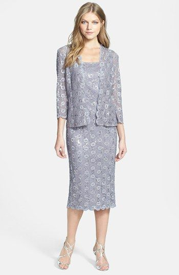 Alex Evenings Embellished Lace Pencil Dress & Jacket | Nordstrom