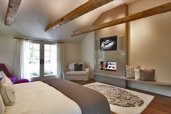 master bedroom with fireplace ideas. Black Bedroom Furniture Sets. Home Design Ideas