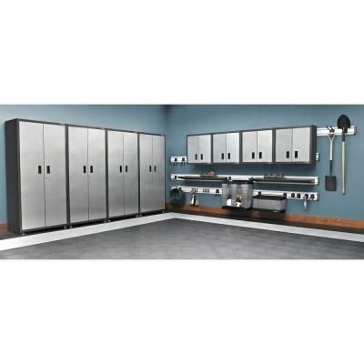 Gladiator Ready to Assemble 28 in. H x 28 in. W x 12 in. D Steel Garage Wall Cabinet in Silver Tread-GAWG28FDYG - The Home Depot