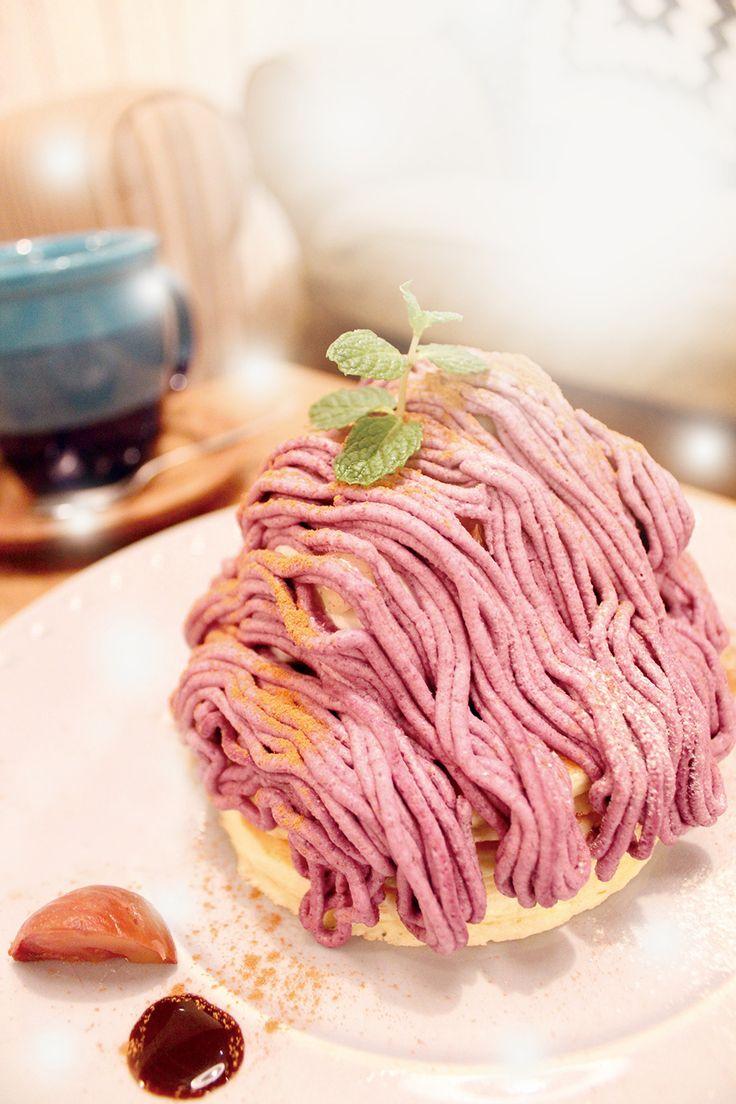紫芋と和栗のモンブラン