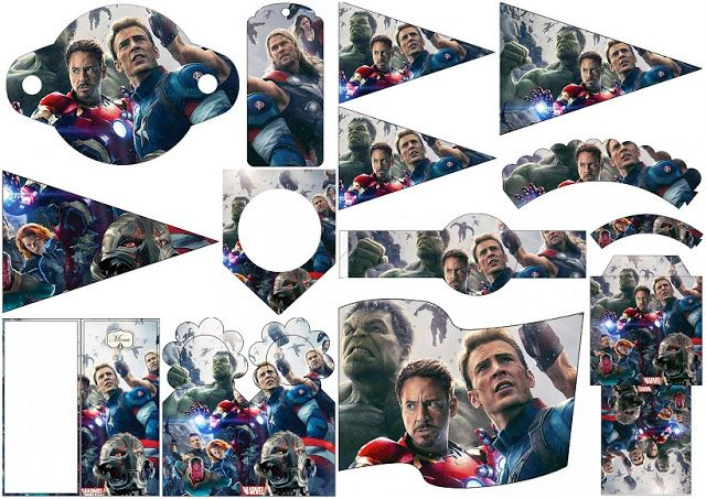 Avengers Party:Free Party Printables.