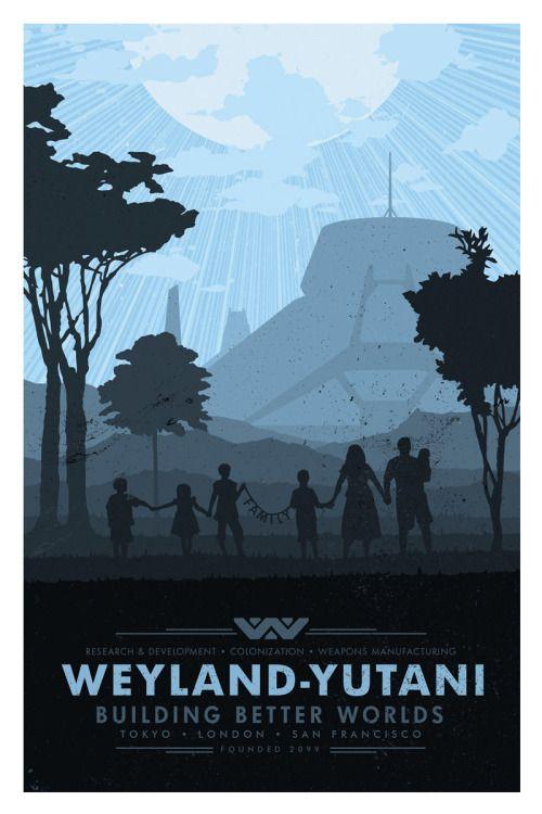 Alien Travel Poster: Weyland-Yutani - Matt Peppler