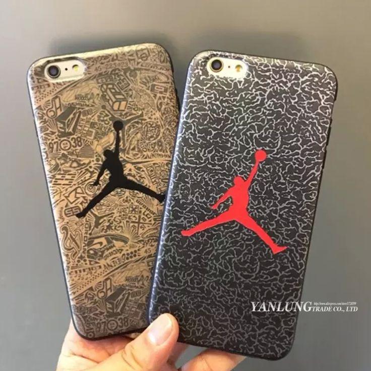 New Coque Air Jordan Logo Sole All Protective Soft Leather Cover for iPhone 6 6S Plus AJ Jumpman Phones Cases Michael Caso
