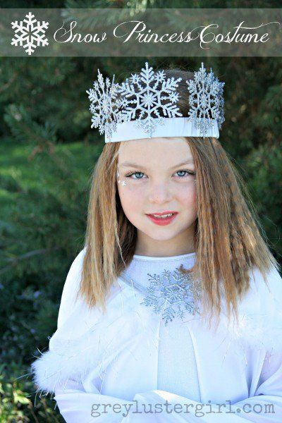 Diy Snow Princess Costume Love The Christmas Ornament Snowflake Crown Costumes Pinterest