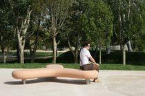 Public bench / organic design / engineered stone