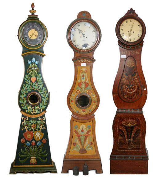 Swedish Mora Folk Art Clocks 500x579 Swedish Folk Country Interior Pictures