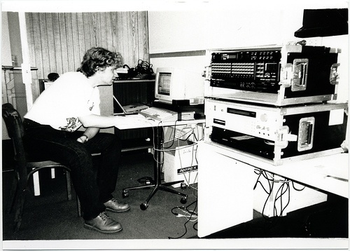 me on the Atari 1040st at Studio BMG back in the days...