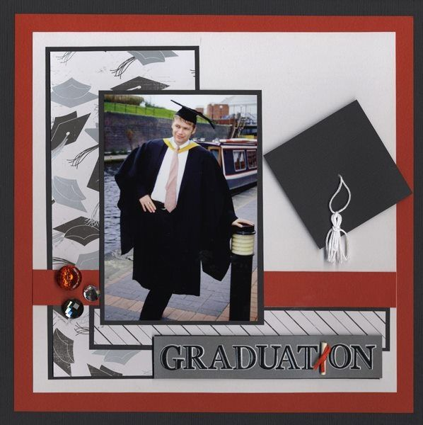 Great for any gender, but I think it's perfect for a masculine graduation page.