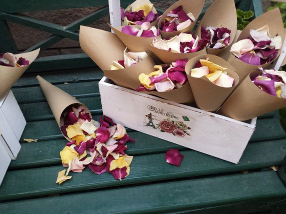 Hey, I found this really awesome Etsy listing at https://www.etsy.com/listing/452419598/confetti-cones-dried-rose-petals-lovely