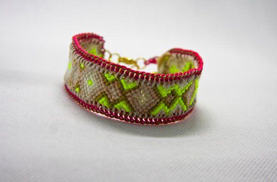 Friendship bracelet by TiffyDesigns! http://www.tiffydesings.com #boho chis #friendship bracelet #neon bracelet #bracelet #statement jewelry #custom jewelry