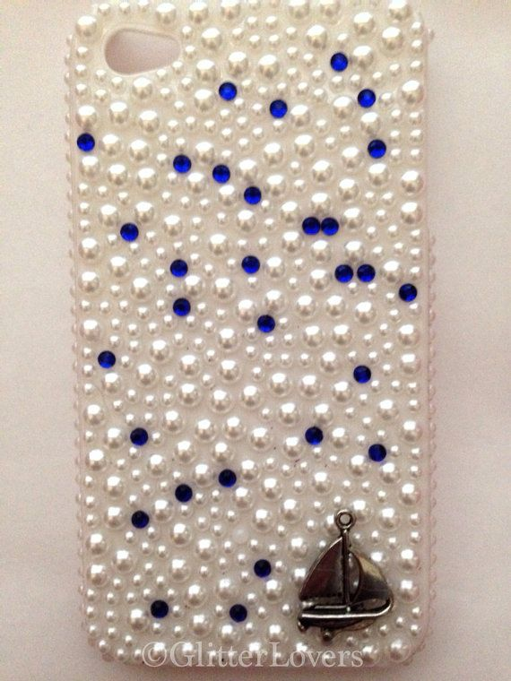 Nautical Pearl and crystal iPhone 4/4s case on Etsy, $12.00