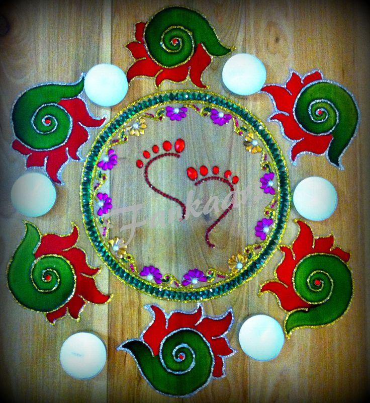 Lakshmi Rangoli that I made for Diwali 2013