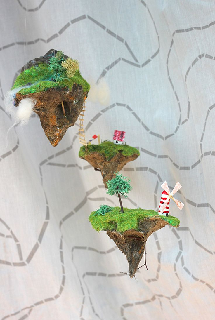 These miniature floating landscapes will take you into a secret pixie world!