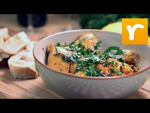 Kyckling med tomat, kapris och oliver (kock Paolo Roberto)