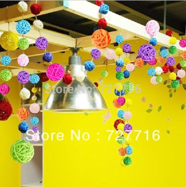 Find More Wicker Crafts Information about Free shipping   5cm diameter wedding and hotel Decorative ball multicolor Natural Rattan Balls 50pcs/lot,High Quality ball dividers,China ball tongue Suppliers, Cheap rattan chair from Beauty & Good Crafts Co.,Ltd on Aliexpress.com