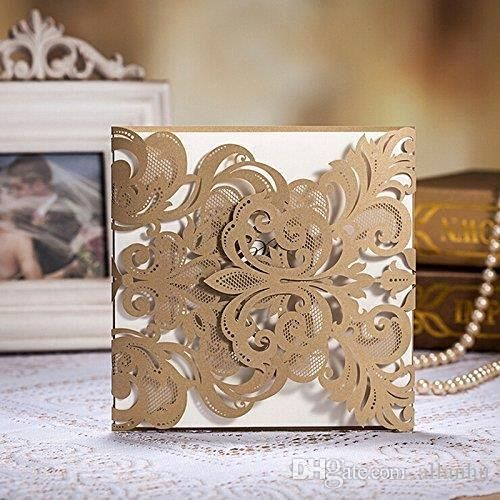 Invite your guests with cheap wedding invitations sets,destination wedding invitation and different wedding invitations on DHgate.com and allanhu recommends  2016 cheap champange gold wedding invitations cards with laser-cut lace flower pattern 2015 free shipping wedding supplies 50 pieces/lot of high quality.