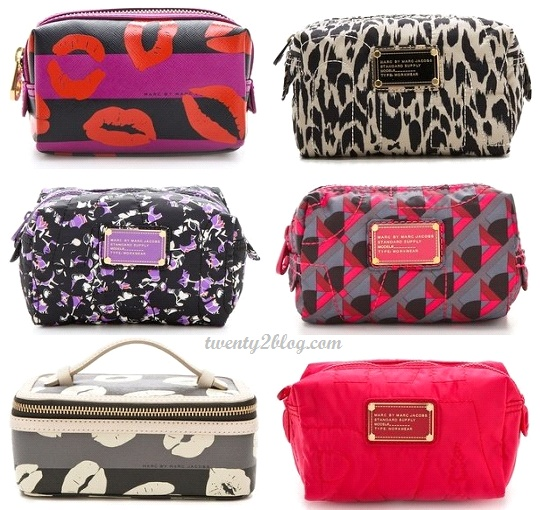 Marc By Jacobs Cosmetic Bags Face Neutrogena Moisturizer Number Seven Wipes Brush Eyelash Curler Bare Minerals Miracle