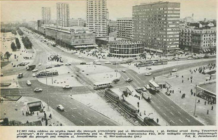 #Marszałkowska, #al.Jerozolimskie, 1972