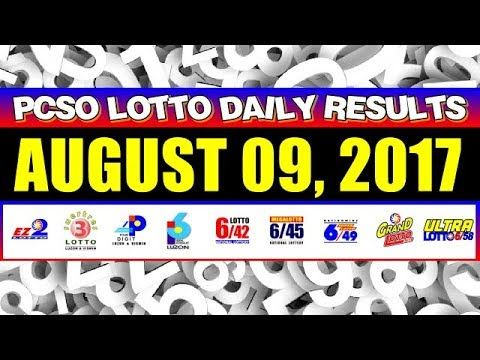PCSO Lotto Result Today August 09, 2017 COMPLETE & OFFICIAL - (More info on: https://1-W-W.COM/lottery/pcso-lotto-result-today-august-09-2017-complete-official/)