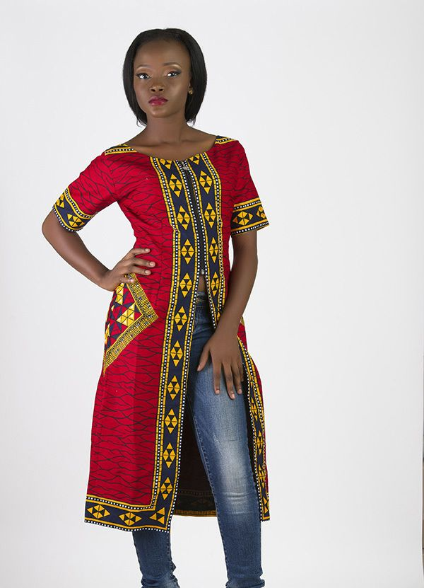 African print tunic dress by audree-hope - Dresses & Tunic - Afrikrea