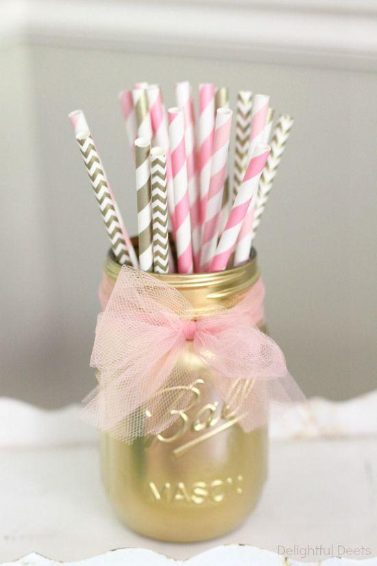 Oui Oui-fiesta rosa y dorado-candy bar rosa y dorado