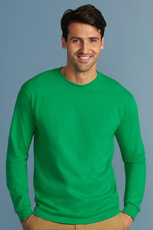 Tricou Unisex cu mâneca lungă Ultra Gildan din 100% bumbac #tricouri #personalizate #bluze #manecalunga #imprimabile #serigrafie #broderie