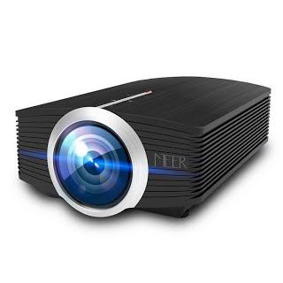 """""""Features & Benefits"""" MEER 1200 Lumens LCD Portable Projector, Support 1080P 130'' Wide Screen Size with Built-in Speaker for Video Games Movies, Multimedia Home Theater Video Projector for iPad iPhone Smartphones Laptops"""