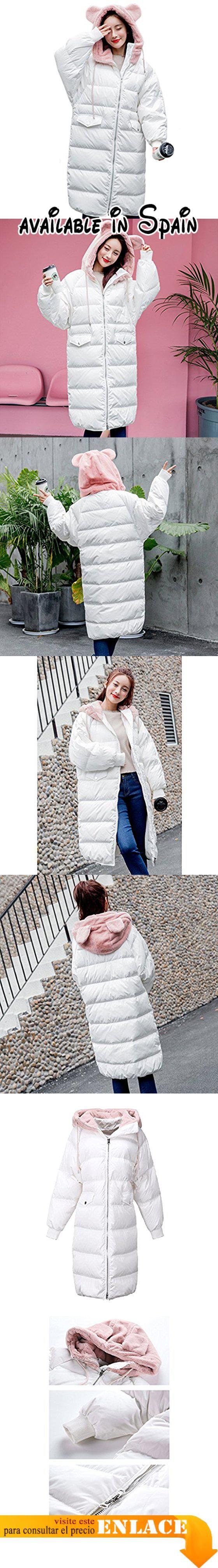 B07855J35H : TSINYG Abrigo largo con capucha suelta de moda de invierno grueso cálido de las mujeres ( Color : Blanco  Tamaño : XL ). El uso de telas de alta calidad mano de obra exquisita cómodo de llevar.. Calor a prueba de viento alto esponjoso ligero.. Sombrero único suave y suave dulce y encantador.. El diseño de moda te hace destacar en cualquier multitud.. Generalmente enviamos en 1-3 días y entrega en 9-15 días.