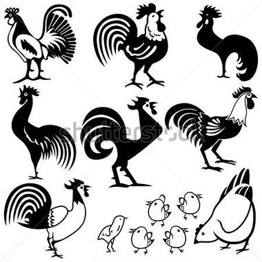Rooster Vector Clip Art Illustration (Free), vector graphics ...