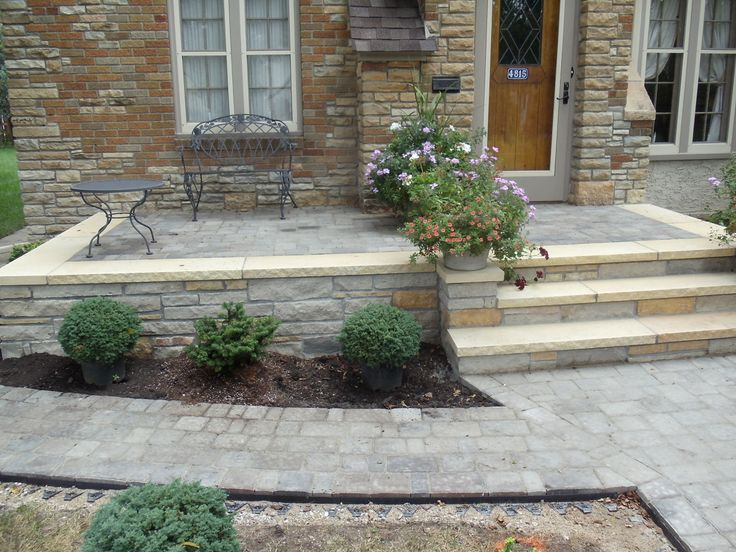 detail stone | Front Patio