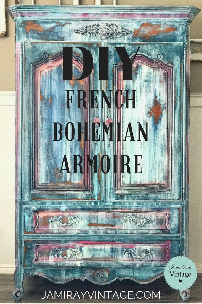 Clash Of The DIY-tans | French Bohemian Armoire