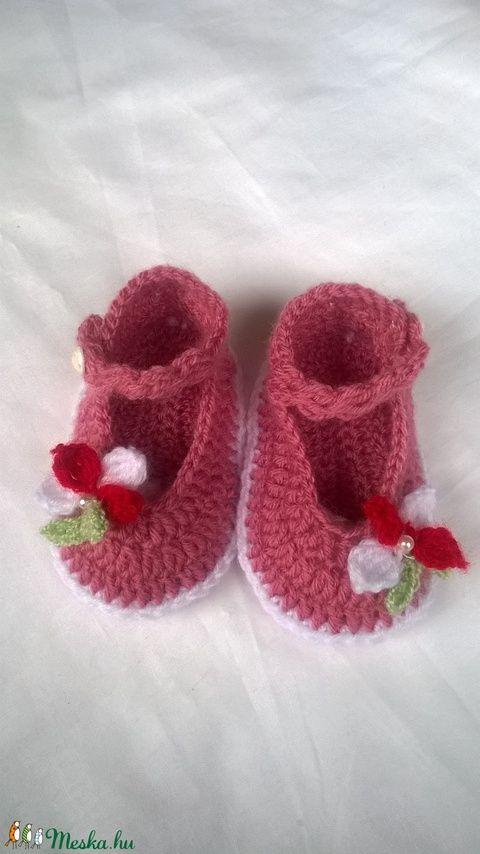 Horgolt baba cipő (anyuci14) - Meska.hu