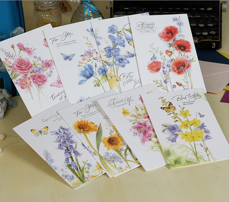 Творческие открытки на день рождения благодарения поздравительные открытки с конвертом 145 * 215 мм бесплатная доставка купить на AliExpress