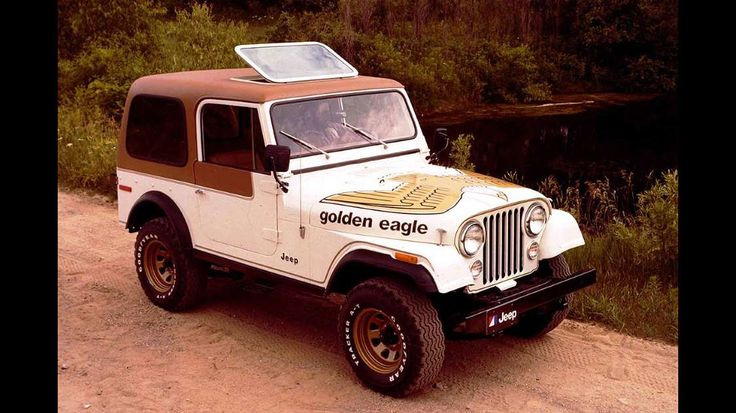 The late 1970s was the most prolific time of hood graphics in history. The Jeep Golden Eagle hid a 5... - FCA