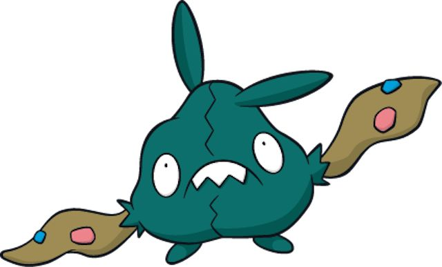 """10 Stupid Pokemon With Surprisingly Elaborate Inspirations - Trubbish is based on the concept of """"dust bunny,"""" also known as those clumps of hair and dirt that live in the place under your couch you can't reach. On top of this, Trubbish is also supposed to stand alongside the Pokémon Grimer and Koffing as the third and final member of the pollution trifecta."""