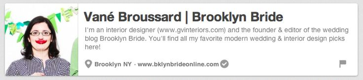 Vane Broussard / Brooklyn Bride | The 25 Best Pinterest Accounts To Follow When Planning Your Wedding