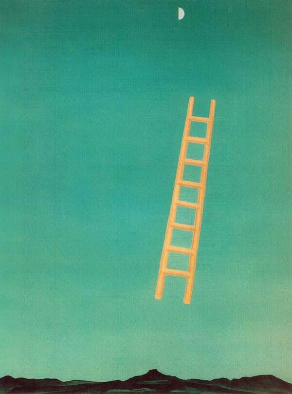 Georgia O'Keeffe- Ladder to the Moon. 1958.  Whitney Museum of American Art, New York