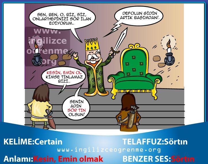 Certain Türkçe anlamı nedir?