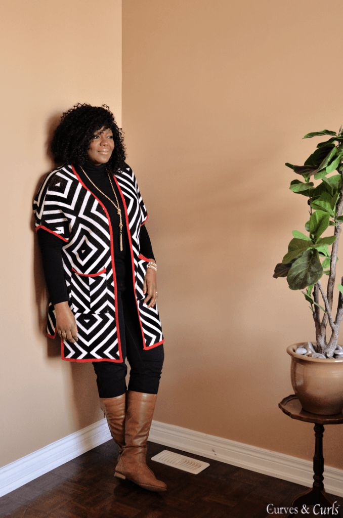 Poncho or Cardigan ? - My Curves And Curls