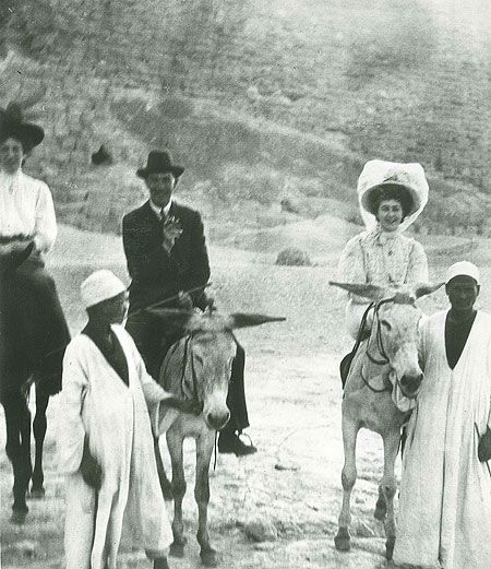 Agatha Christie in Egypt, late 19th century.