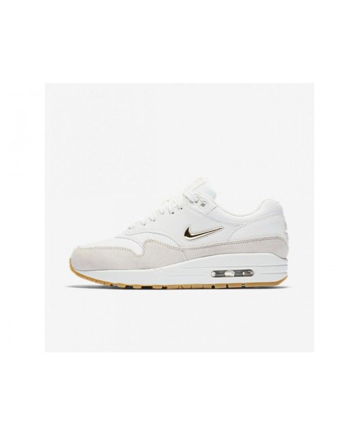 finest selection 65b5c eccd8 Nike Air Max 1 Premium Sc Women s Summit White Light Bone Gum Light Brown Metallic  Gold Star Shoes, AA0512-100 Bestselling