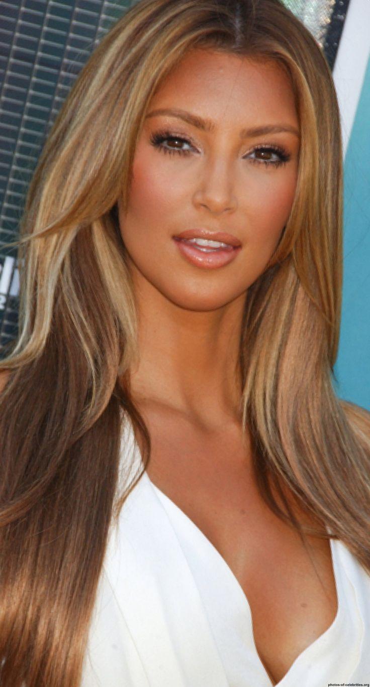 Something is. kim kardashian blonde hair highlights