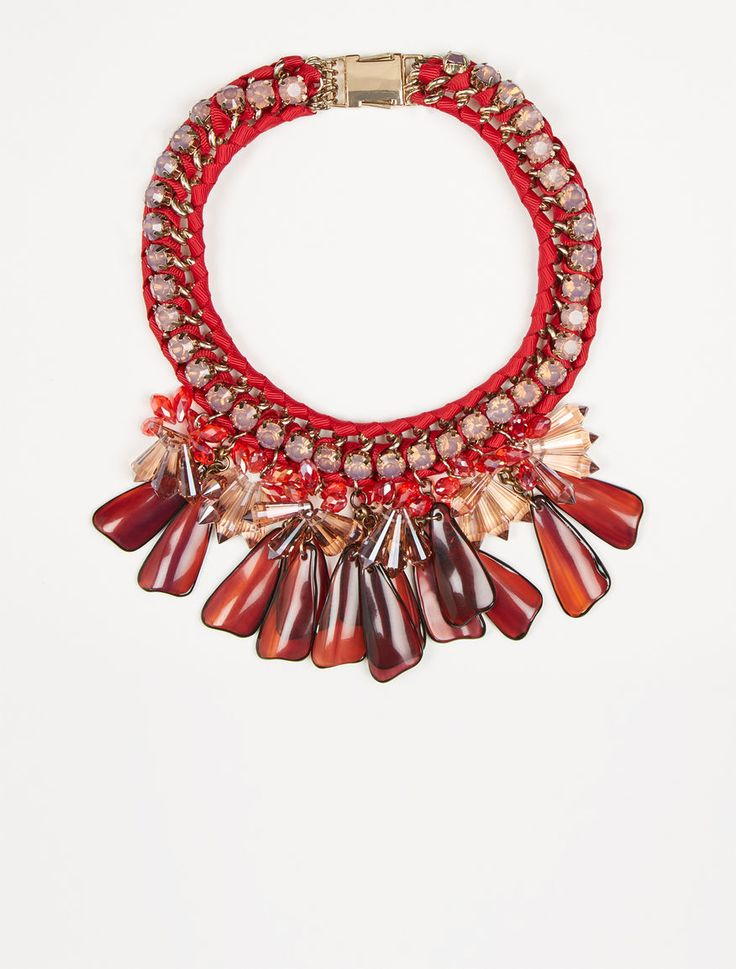 MaxMara WeekEnd CANASTA aubergine: Stone cluster necklace Product page